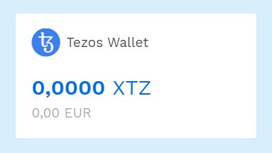 Tezos Wallet on Bitpanda